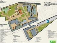 a Zsolnay Kulturális Negyed térképe