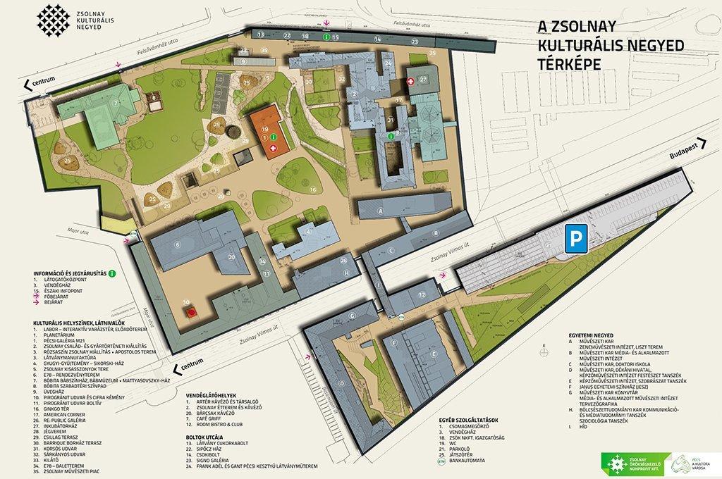 pécs zsolnay negyed térkép Zsolnay Kulturális Negyed | Puchner Kastélyszálló